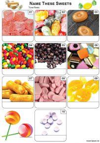 Sweets Mini Picture Quiz - Z3437