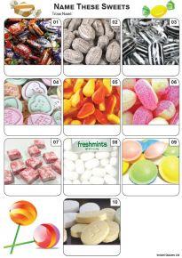 Sweets Mini Picture Quiz - Z3438