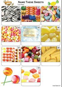 Sweets Mini Picture Quiz - Z3439