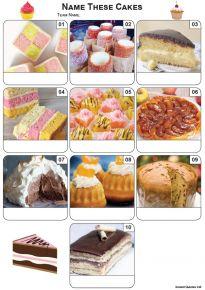 Cakes Mini Picture Quiz - Z3440