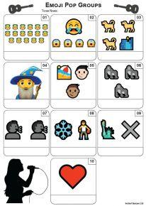 Emoji Pop Groups Mini Picture Quiz - Z3444