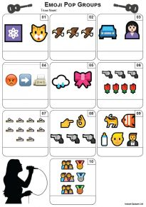 Emoji Pop Groups Mini Picture Quiz - Z3445