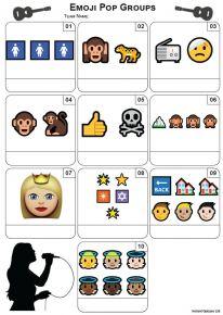 Emoji Pop Groups Mini Picture Quiz - Z3447