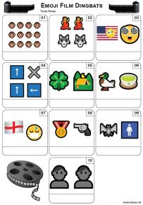 Emoji Films Mini Picture Quiz - Z3449