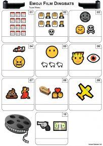 Emoji Films Mini Picture Quiz - Z3451