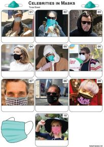 Celebrities In Masks Mini Picture Quiz - Z3454