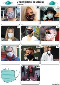 Celebrities In Masks Mini Picture Quiz - Z3455