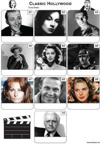 Classic Hollywood Mini Picture Quiz - Z3458