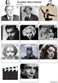 Classic Hollywood Mini Picture Quiz - Z3459