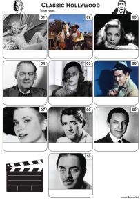 Classic Hollywood Mini Picture Quiz - Z3461