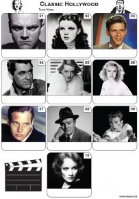 Classic Hollywood Mini Picture Quiz - Z3462