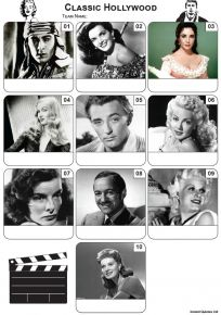 Classic Hollywood Mini Picture Quiz - Z3463