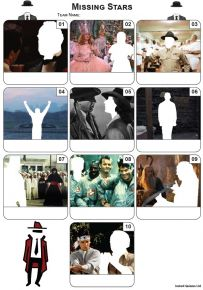 Missing Actors Mini Picture Quiz - Z3464