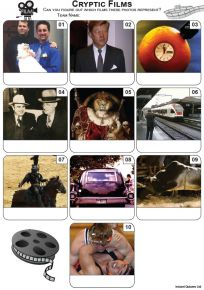 Cryptic Films Mini Picture Quiz - Z3466