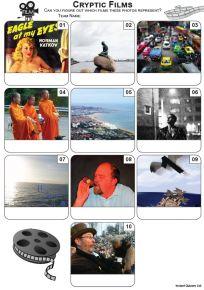 Cryptic Films Mini Picture Quiz - Z3468
