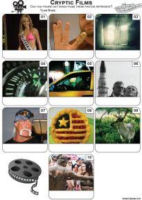 Cryptic Films Mini Picture Quiz - Z3469