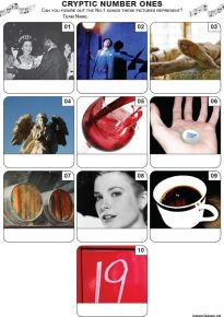 Cryptic Number Ones Mini Picture Quiz - Z3472