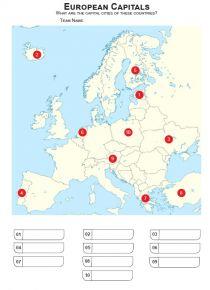 European Capital Cities Mini Picture Quiz - Z3477