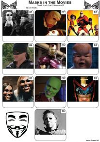 Masks In The Movies Mini Picture Quiz - Z3486