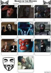 Masks In The Movies Mini Picture Quiz - Z3487
