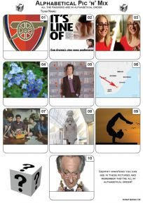 Alphabetical Order Picture Quiz - Z3494