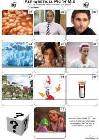 Alphabetical Order Picture Quiz - Z3495