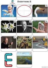 Everything Starts With 'E' - Mini PIcture Quiz Z3518