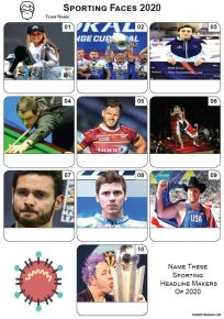 Sporting Faces 2020 - Mini Picture Quiz Z3535