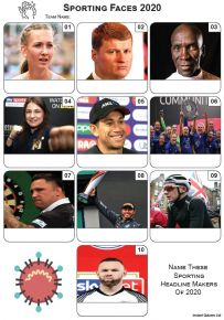 Sporting Faces 2020 - Mini Picture Quiz Z3536