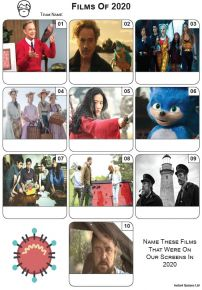 Films of 2020 - Mini Picture Quiz Z3540