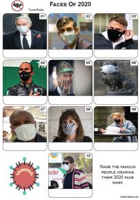 Masked Faces of 2020 - Mini Picture Quiz Z3557