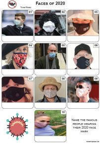 Masked Faces of 2020 - Mini Picture Quiz Z3558