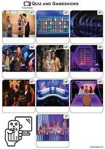 TV Quiz and Gameshows - Mini Picture Quiz Z3567