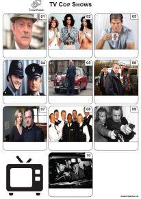TV Cop Shows - Mini Picture Quiz Z3570