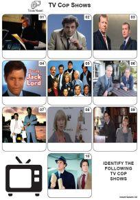 TV Cop Shows - Mini Picture Quiz Z3573