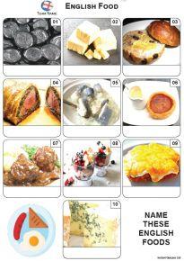 English Food Mini Picture Quiz - Z3598