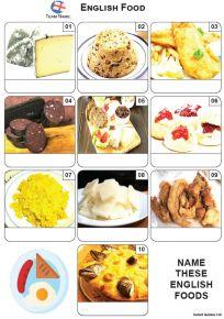 English Food Mini Picture Quiz - Z3599