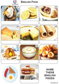 English Food Mini Picture Quiz - Z3600