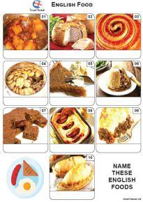 English Food Mini Picture Quiz - Z3601