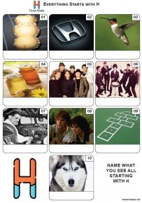 Everything Starts With 'H' - Mini PIcture Quiz Z3610