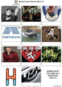 Everything Starts With 'H' - Mini PIcture Quiz Z3611