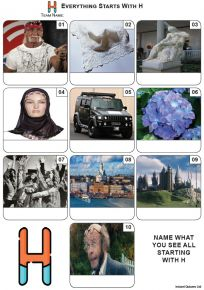 Everything Starts With 'H' - Mini PIcture Quiz Z3612