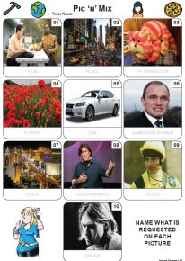 Pic 'n' Mix Mini Picture Quiz - Z3619