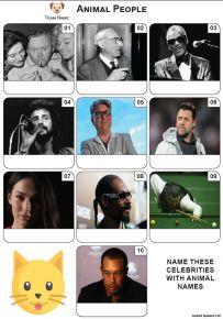 Animal Names - Mini Picture Quiz Z3632