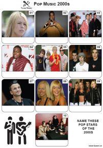 Pop Music of the 2000s - Mini PIcture Quiz Z3634