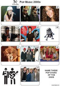 Pop Music of the 2000s - Mini PIcture Quiz Z3635