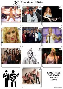Pop Music of the 2000s - Mini PIcture Quiz Z3636