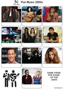 Pop Music of the 2000s - Mini PIcture Quiz Z3637