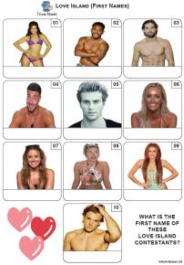 Love Island - Mini Picture Quiz Z3661