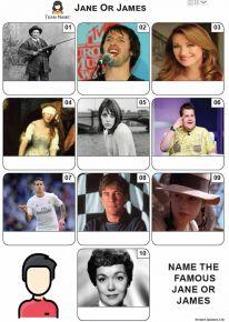 Jane or James - Mini Picture Quiz Z3667